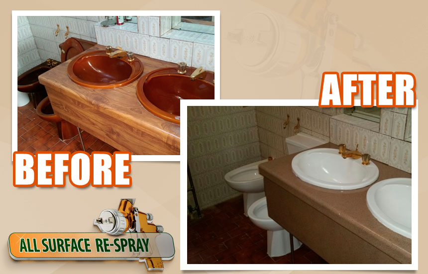 Sinks and countertop resurfacing
